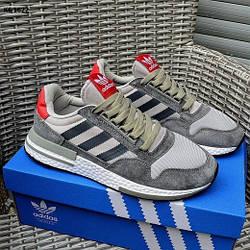 Мужские кроссовки Adidas ZX 500 RM Commonwealth, серые / кросівки адідас (Топ реплика ААА+)