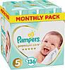 Підгузники дитячі Pampers Premium Care Dry Max Junior 5 (11-25 кг) Mega Pack 136 шт