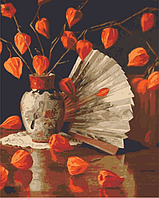 Картины по номерам 40*50 см раскраска антистресс 40х50 см Натюрморт с физалисом