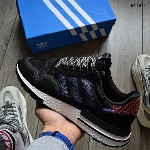 Чоловічі кросівки Adidas ZX 500 RM Commonwealth, чорні / кросівки адідас (Топ репліка ААА+)