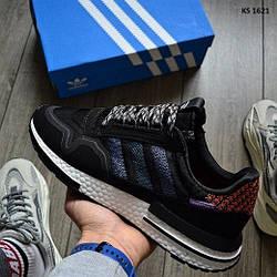 Мужские кроссовки Adidas ZX 500 RM Commonwealth, черные / кросівки адідас (Топ реплика ААА+)