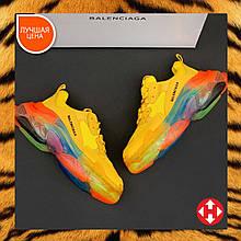 🔥 Кроссовки женские Balenciaga Triple S Баленсиага Трипл с разноцветные повседневные прозрачная подошва легкие