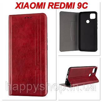 Чехол-книжка Gelius Leather New для Xiaomi Redmi 9C (Красный), фото 2