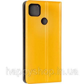 Чехол-книжка Gelius Leather New для Xiaomi Redmi 9C (Желтый), фото 2