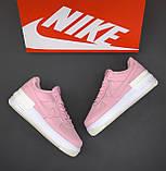 🔥 Кроссовки женские Nike Air Force Shadow найк эир форс шедоу розовые повседневные спортивные кожаные, фото 3