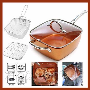 Сковорода універсальна Copper Cook Deep Square Pan | Сковорода | Антипригарна сковорідка