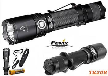 Дальнобойный мощный фонарь FENIX TK20R+Аккумулятор 2900mAh+Чехол (1000LM, Cree XP-L HI V3, 1*18650, micro USB)