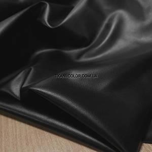 Ткань кожа стрейч (экокожа) черная
