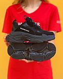🔥 Кроссовки мужские Balenciaga Triple S Баленсиага Трипл с черные повседневные спортивные легкие, фото 3