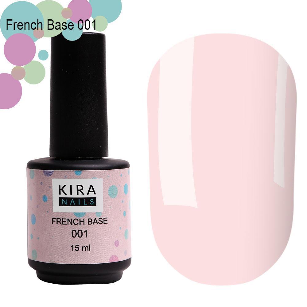 Kira Nails French Base 001 (нежно-розовый), 15 мл