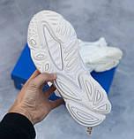 🔥 Кроссовки мужские Adidas Ozweego адидас озвиго белые повседневные спортивные легкие, фото 3