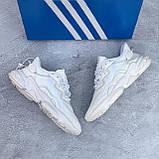 🔥 Кроссовки мужские Adidas Ozweego адидас озвиго белые повседневные спортивные легкие, фото 6