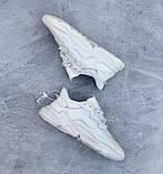 🔥 Кроссовки мужские Adidas Ozweego адидас озвиго белые повседневные спортивные легкие, фото 7