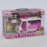 Набор с куклой К 5622 (24/2) Передвижная закусочная, 2 куклы, аксессуары, в коробке, шт
