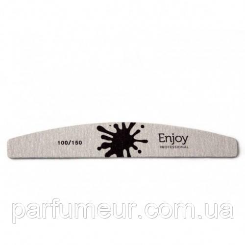 "EnJoy Professional Пилка для ногтей ""Half Moon"", форма ""луна"" 100/150"