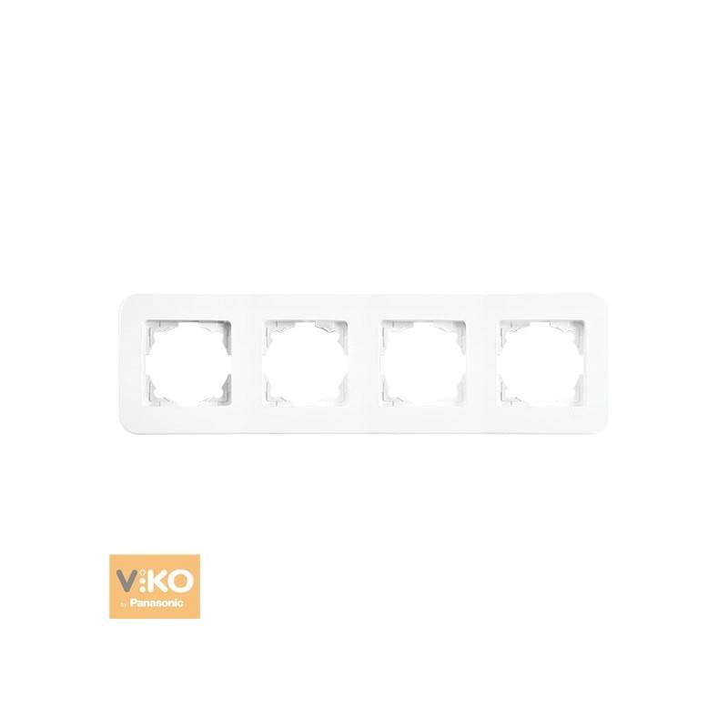 Рамка четверная горизонтальная VIKO Rollina - Белый