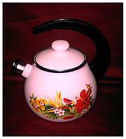 Чайник эмалированный 2,5 л со свистком