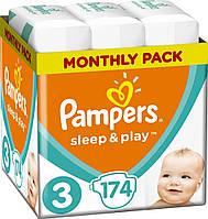 Підгузники дитячі Pampers Sleep&Play Midi 3 (4-9 кг) Monthly Pack 174 шт