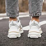 🔥 Кроссовки мужские Balenciaga Triple S Баленсиага Трипл с белые повседневные спортивные легкие, фото 2