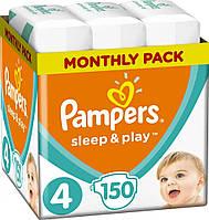 Підгузники дитячі Pampers Sleep&Play Maxi 4 (7-14 кг) ьщтердн Pack 150 шт