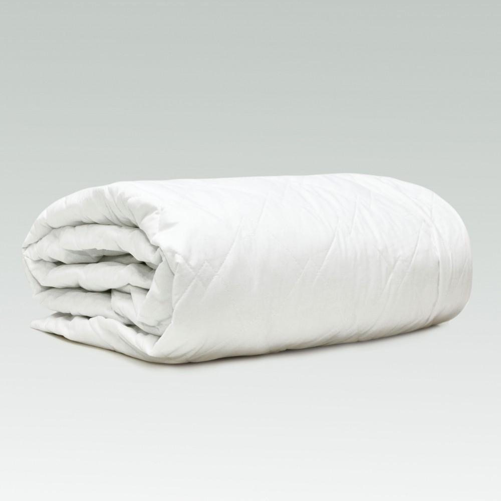 Наматрасник стеганый с бортами ранфорс 160х200+25 см  наматрасник на кровать