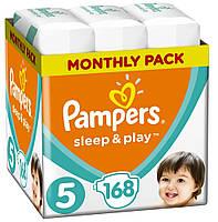 Підгузники дитячі Pampers Sleep&Play Junior 5 (11-18 кг) Monthly Pack 168 шт