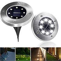 Уличный светильник на солнечной батарее Solar Disk Lights 5050 8 led