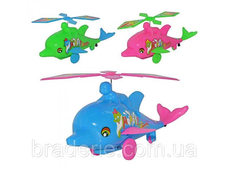Заводная игрушка Вертолет-Дельфин 3 цвета 998