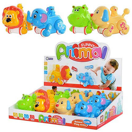 Заводная игрушка Животные Африки 4 вида Metr+ MW 222, фото 2