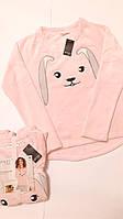 Кофта свит-шот женская розовая домашняя одежда плюшевая Esmara Германия размер 46/48 eur M.