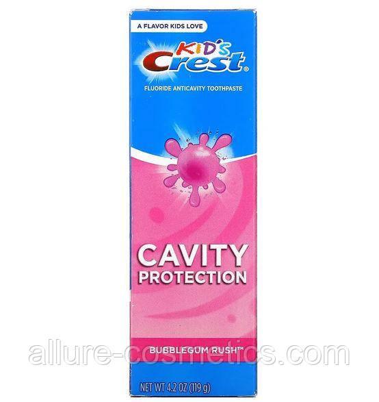 Дитяча зубна паста Crest Kids Fluoride Anticavity Toothpaste Bubblegum Rush 119гр