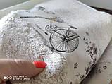 Набор махровых полотенец бамбук 50*90 и 70*140 TM PUPILLA  Турция Романтика светлый беж, фото 3
