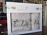 Набор махровых полотенец бамбук 50*90 и 70*140 TM PUPILLA  Турция Романтика светлый беж, фото 2