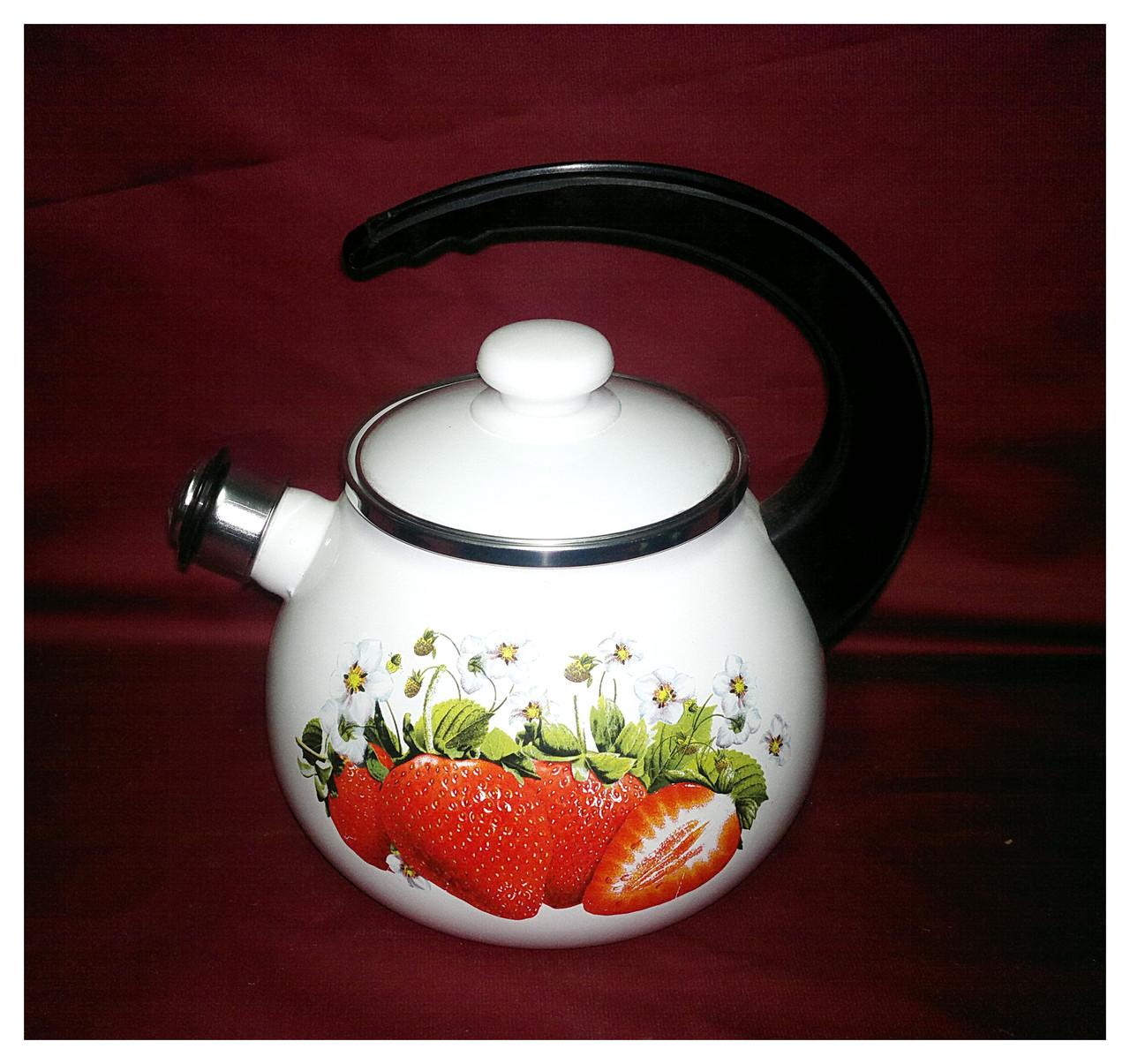 Чайник со свистком эмалированный 2,5 л