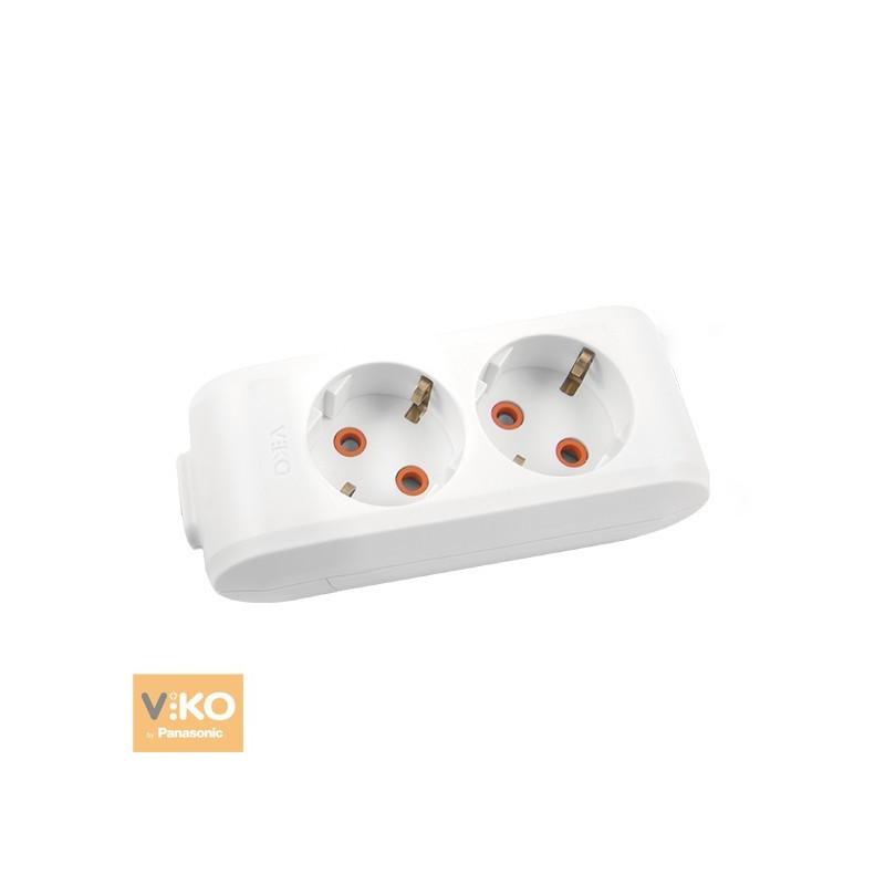 Колодка 2 гнезда с заземлением VIKO Multi-Let