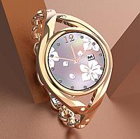 Женские Умные смарт часы Smart Watch Lemfo Lem1995. С Тонометром Пульоксиметром Android iOS Gold