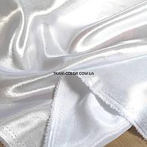 Ткань креп- сатин белый, фото 2