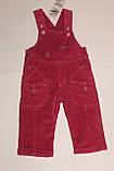 Комбез вельветовий утеплений на дівчинку рожевий 74 зростання, фото 2
