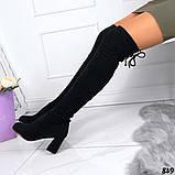 Женские демисезонные ботфорты чулок на завязках эко замш, фото 2