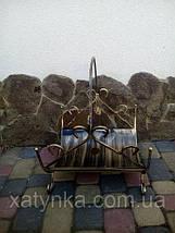 Камінний набір - комплект №7. Приладдя для каміна + Дровниця, фото 3