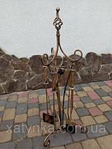 Комплект для камина №6 (Роза). Принадлежности для камина + Стойка + Дровница, фото 2