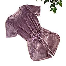 Женская плюшевая пижама (футболка с шортами)