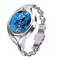 Женские Умные смарт часы Smart Watch Lemfo Lem1995. С Тонометром Пульоксиметром Android iOS Silver