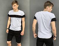 Футболка мужская повседневная, Крутая футболка мужская, Стильная футболка молодежная серая
