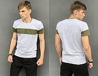 Футболка мужская серая, Стильная мужская футболка молодежная