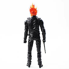 Экшн фигурка Призрачного гонщика. Фигурка из фильма Призрачный гонщик. Игрушка Ghost Rider 23 см, фото 2