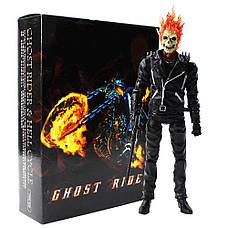 Экшн фигурка Призрачного гонщика. Фигурка из фильма Призрачный гонщик. Игрушка Ghost Rider 23 см, фото 3