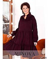 Платье свободного кроя из вельвета с 50 по 64 размер, фото 1
