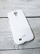 Прорезиненый Чехол для Samsung Galaxy S4 i9500 накладка бампер противоударный белый