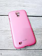 Прорезиненый Чехол для Samsung Galaxy S4 i9500 накладка бампер противоударный розовый
